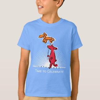Födelsedaghund med ballongdjur t shirt