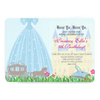 Födelsedaginbjudan för Princess saga 12,7 X 17,8 Cm Inbjudningskort
