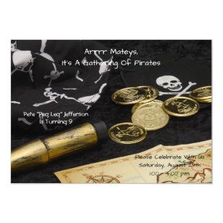 Födelsedaginbjudan--Pirat 12,7 X 17,8 Cm Inbjudningskort