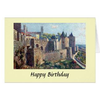 Födelsedagkort - Cité de Carcassonne, frankrike Hälsningskort