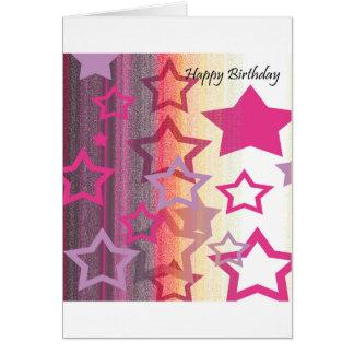 Födelsedagkort - du är en stjärna! (Rosor, svart) Hälsningskort