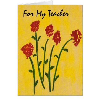 Födelsedagkort för en lärare hälsningskort