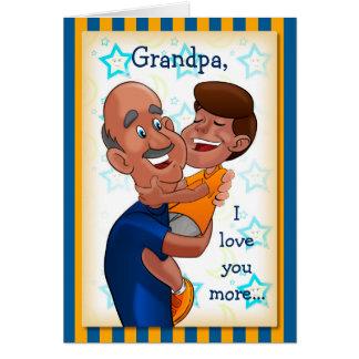 Födelsedagkort för farfar hälsningskort