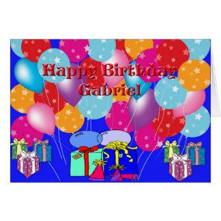 Födelsedagkort för Gabriel Hälsningskort