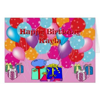 Födelsedagkort för Kayla Hälsningskort