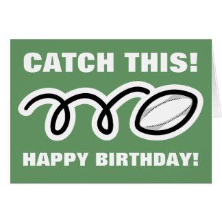 Födelsedagkort för rugbyfläktar och spelare hälsningskort
