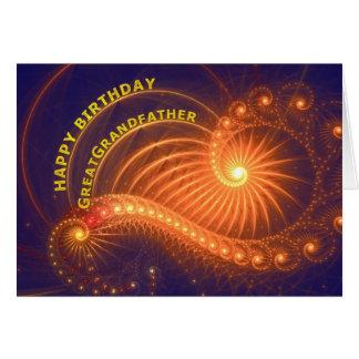 Födelsedagkort för stor- farfar hälsningskort