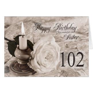 Födelsedagkort för syster, 102. Stearinljuset och Hälsningskort