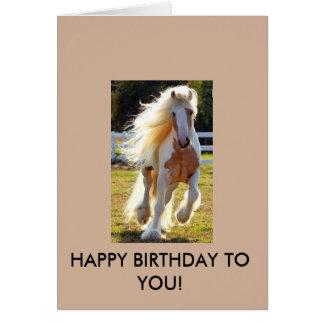 Födelsedagkort med en härlig häst! hälsningskort