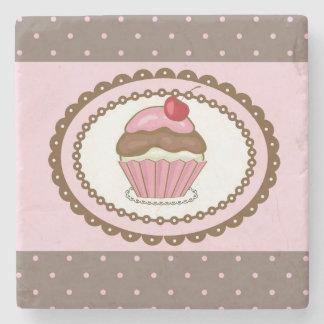 Födelsedagkort med muffin stenglasunderlägg
