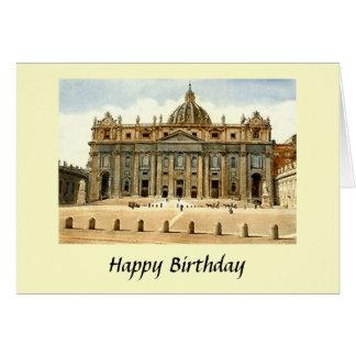 Födelsedagkort - St Peter, Rome Hälsningskort