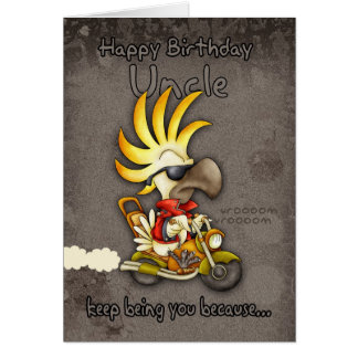 Födelsedagkort - Uncle Födelsedag Kort - kakadua