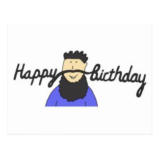 Födelsedagmoustache för hipster. vykort