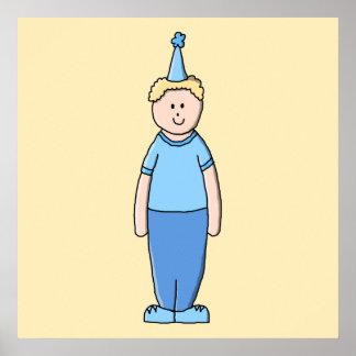 Födelsedagpojke i Blue. Poster