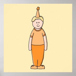Födelsedagpojke, i Orange. Print
