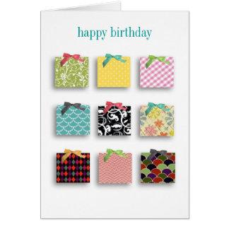 Födelsedagpresenter med fauxen bugar det bday kort