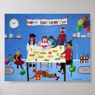 Födelsedagsfest Poster