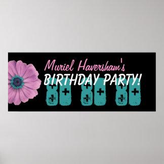 Födelsedagsfest för anpassningsbar 80th eller någo affisch