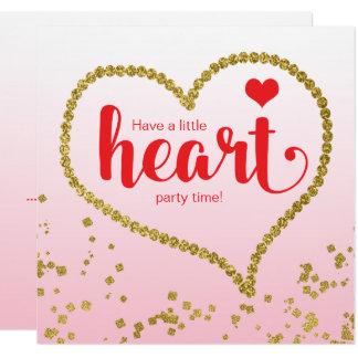 Födelsedagsfest för möte för hjärtatemafamilj fyrkantigt 13,3 cm inbjudningskort