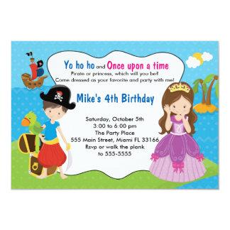 Födelsedagsfest för piratPrincess Inbjudan Pojke