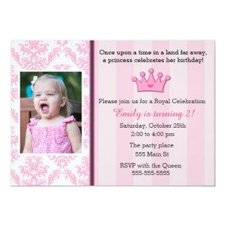 Födelsedagsfest för Princess Foto Inbjudan Flicka