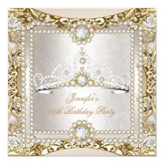 Födelsedagsfest för Princess Laga mat med grädde Fyrkantigt 13,3 Cm Inbjudningskort