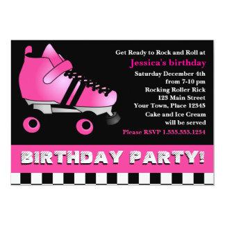 Födelsedagsfest för shock rosarullskridsko 12,7 x 17,8 cm inbjudningskort