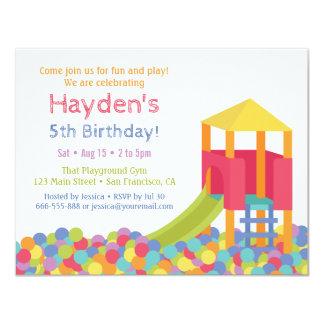 Födelsedagsfest för unge för gropar för 10,8 x 14 cm inbjudningskort