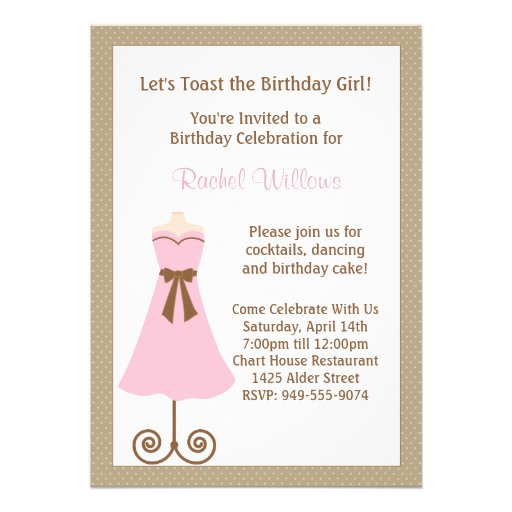 Födelsedagsfest inbjudan