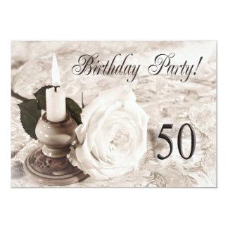 Födelsedagsfest inbjudan 50 gammala år