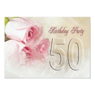 Födelsedagsfest inbjudan för 50 år