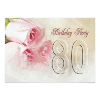 Födelsedagsfest inbjudan för 80 år