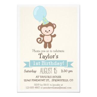 Födelsedagsfest inbjudan för babyapabarn