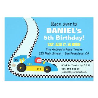 Födelsedagsfest inbjudan för bil för