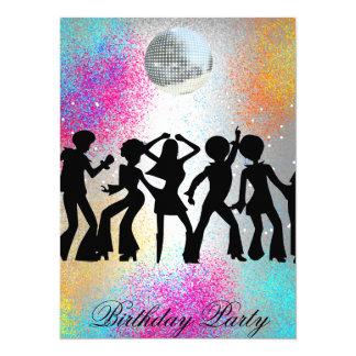 Födelsedagsfest inbjudan för dansdiskoöverrrakning