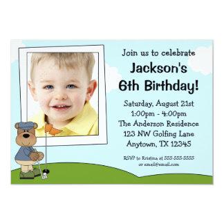 Födelsedagsfest inbjudan för foto för