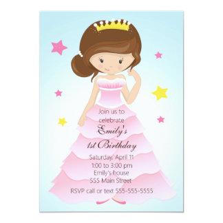 Födelsedagsfest inbjudan för Princess Klä Flicka