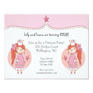 Födelsedagsfest inbjudan för Princess Koppla