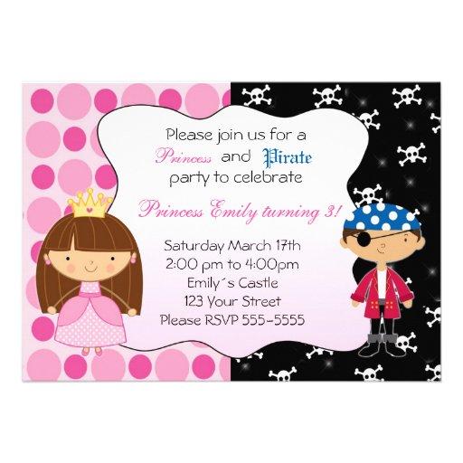 Födelsedagsfest inbjudan för Princess Piratkopiera