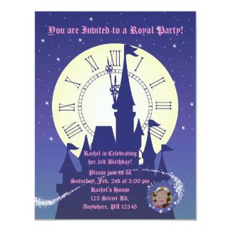 Födelsedagsfest inbjudan för Princess royal 10,8 X 14 Cm Inbjudningskort