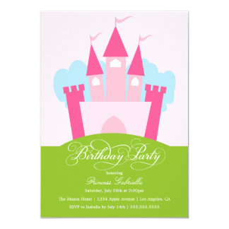 Födelsedagsfest inbjudan för Princess Themed