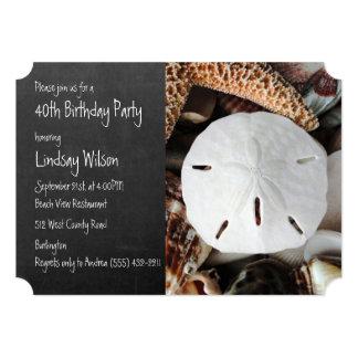 Födelsedagsfest inbjudan för svart tavla för