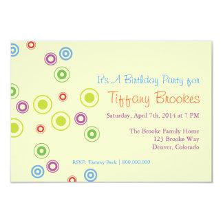 Födelsedagsfest inbjudan | som in går, cirklar |iv