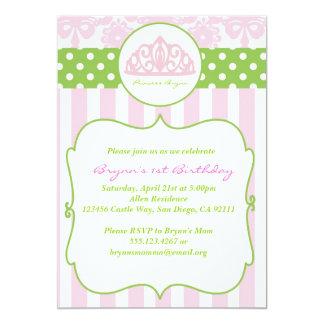 Födelsedagsfest inbjudanrosor för Princess Kröna 12,7 X 17,8 Cm Inbjudningskort