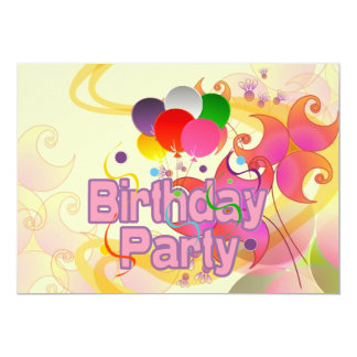 Födelsedagsfest 12,7 X 17,8 Cm Inbjudningskort