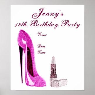 Födelsedagsfestaffisch Poster