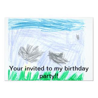 Födelsedagsfesten extraknäcker 12,7 x 17,8 cm inbjudningskort