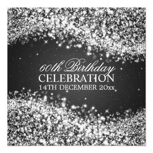 Födelsedagsfesten för eleganten som 60th Sparkling Tillkännagivanden