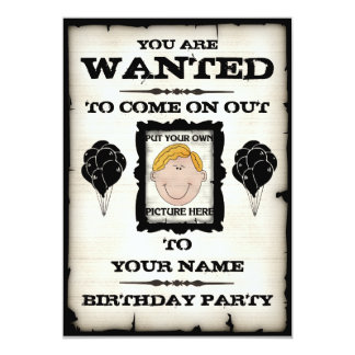 Födelsedagsfesten önskade inbjudningar
