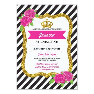 Födelsedagsfestinbjudan för Princess Kröna Alice 12,7 X 17,8 Cm Inbjudningskort